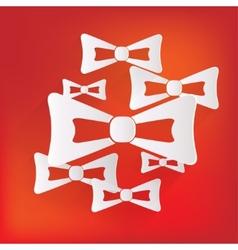 Bow tie icon vector image