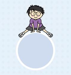 boy jumping vector image vector image