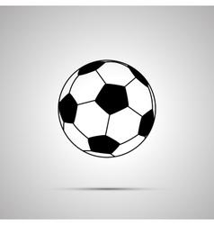 Football ball simple black icon vector image