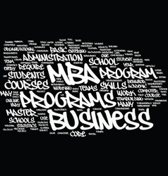 Mba overview text background word cloud concept vector