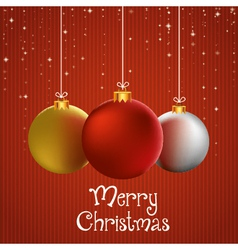 Merry christmas to you greeting card with vector image vector image