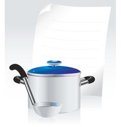 metallic pan vector image vector image