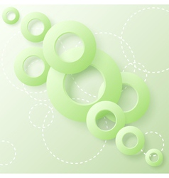paper circles vector image vector image
