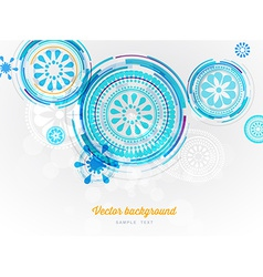 Abstract circles background vector image
