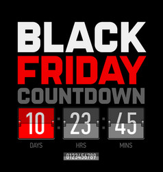 black friday countdown timer template vector image vector image