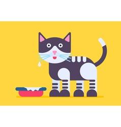 Cat Milk Flat vector image vector image