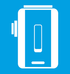 Charger icon white vector