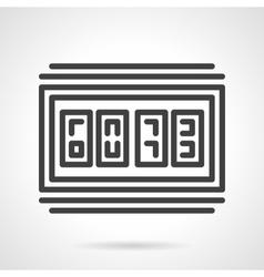 Digital scoreboard black line design icon vector image