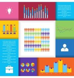 Social network infographics set vector image vector image