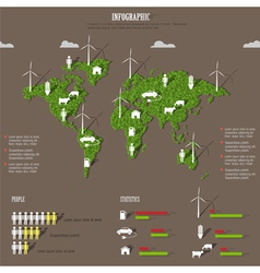 Eco infographic elements vector image vector image
