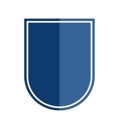 Heraldic shield shape badge vector image