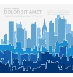 Print cityscape vector image vector image