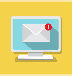 the letter came by email vector image