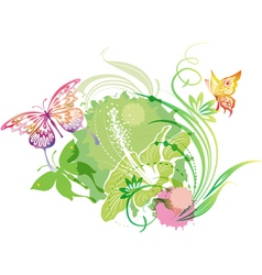 with a butterflies vector image