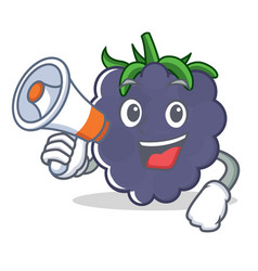 With megaphone blackberry character cartoon style vector