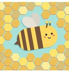 Bee in Yellow Beehive vector image