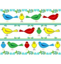 Bird wallpaper vector image vector image