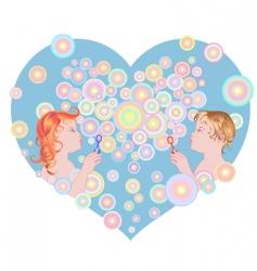 blowing bubbles vector image
