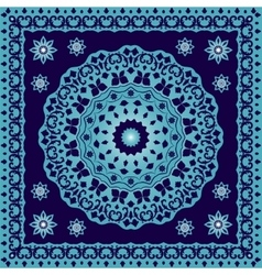 Blue bandana with round ornament vector image vector image