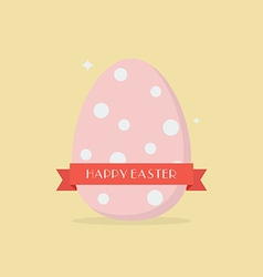 Happy easter with polka dot egg vector image vector image