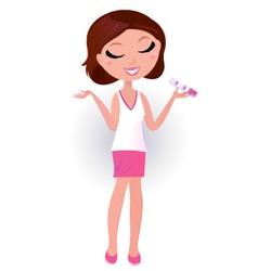 positive pregnancy test vector image vector image
