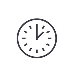 time line icon sign on vector image