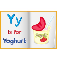 A picture of yoghurt in book vector