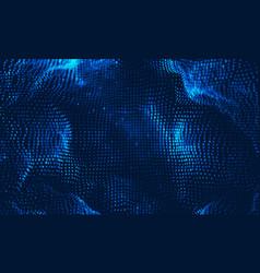 Abstract big data visualization blue vector