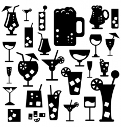 Alcohol glasses vector