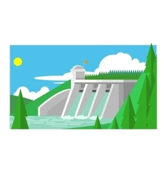 Alternative energy dam vector