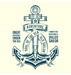 Anchor Sailor Tee Design vector