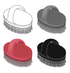 Animal brushpet shop single icon in cartoon style vector