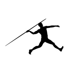 athlete javelin thrower vector image