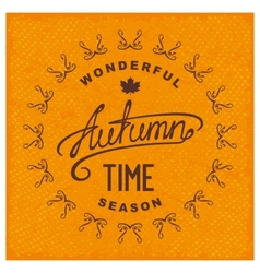 Autumn season time vector
