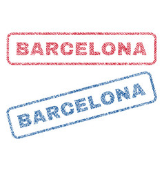 Barcelona textile stamps vector