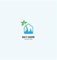 Bay home logo template vector