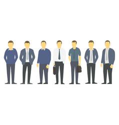 big set business mens management business mens vector image