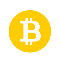 Bitcoin sign logo vector
