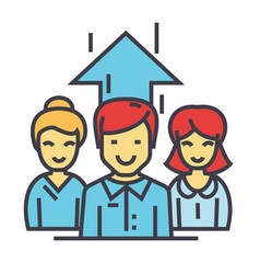 Business team marketing managers working vector