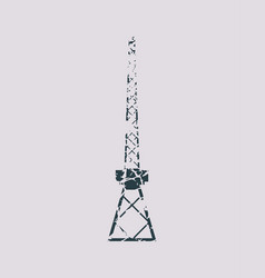 Cargo sea port crane icon vector