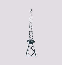 cargo sea port crane icon vector image