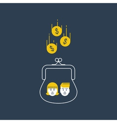 Children money accumulation allowance concept vector