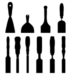 chisels vector image