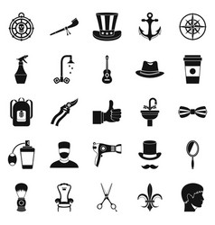 Coffee house icons set simple style vector