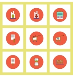 Collection of icons in flat style economic vector