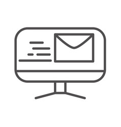 Computer email fast shipping related delivery line vector