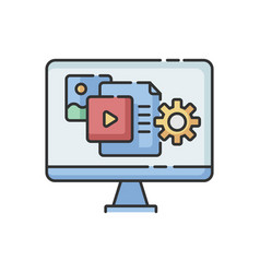 Content manager rgb color icon vector