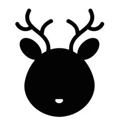 cute and tender reindeer head character vector image vector image