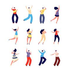 dancing people joyful couples dance woman man on vector image