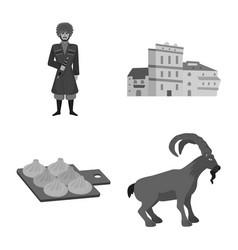 Design attributes and tourism logo set vector